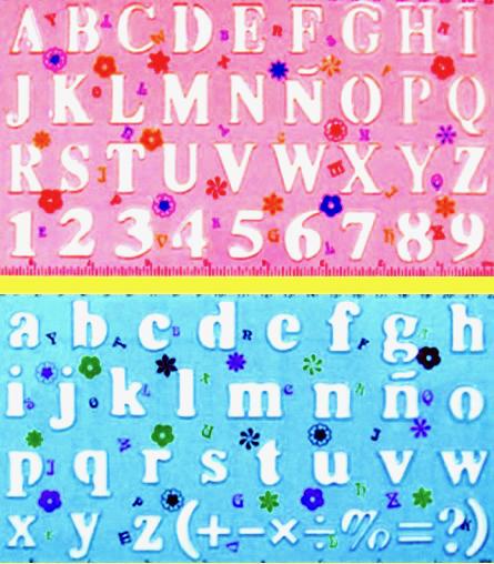 Alphabet Number Stencils