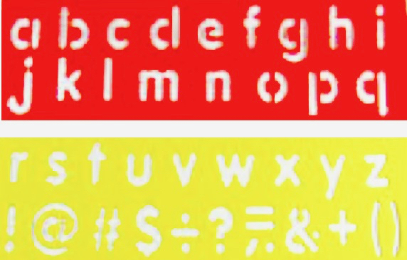 Alphabet Number Stencil