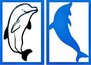 Dolphin Stencil