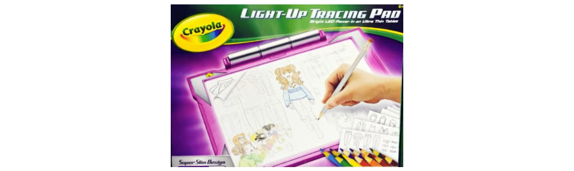 Crayola Light Up Tracing Pad Allows Kids To Do Easy Artistic Drawings