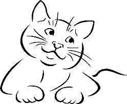photograph relating to Cat Stencil Printable titled Cat Stencils Printable is an Good route in direction of build cat